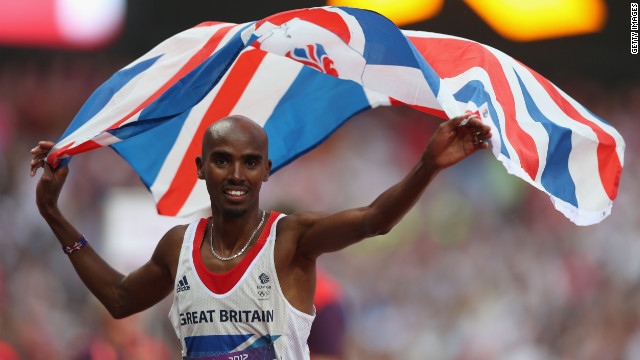 """This is my country and when I put on my Great Britain vest I'm proud,"" Mo Farah said after winning the 5000m."