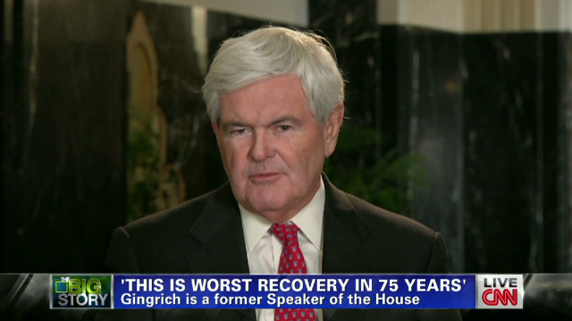Gingrich defends Ryan, stumps on economy