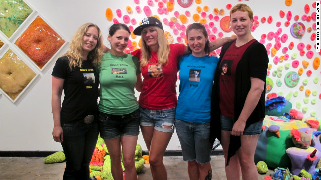 From left to right: Chloe Caldwell, Mary Miller, Elizabeth Ellen, Brandi Wells and Donora Hillard.