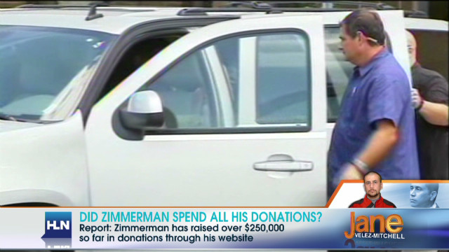 Did Zimmerman spend his donations?