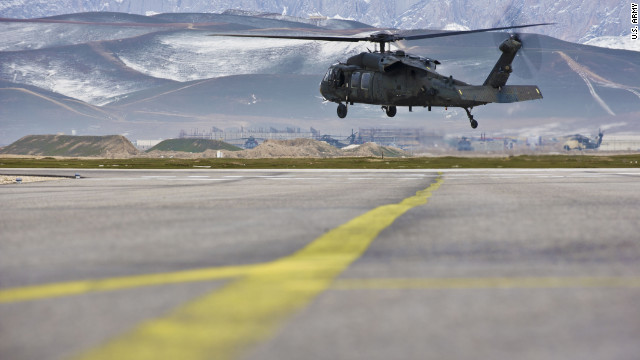 This UH-60 Black Hawk helicopter in Afghanistan is believed to be similar to the helicopter that crashed on Thursday.