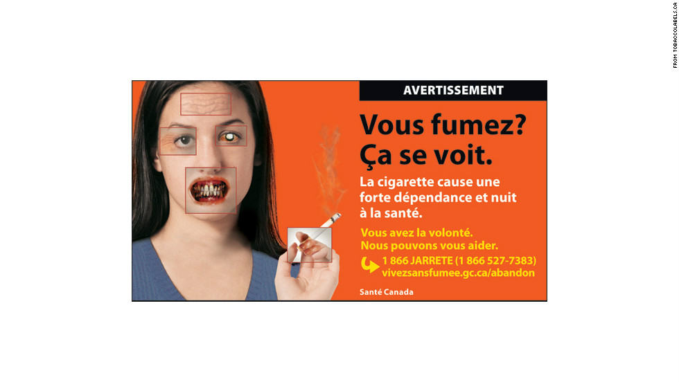 It's the latest in a global move toward graphic health warnings on cigarettes, a movement first started in Canada in 2001. Canada requires at least 50% of the packet to contain health warnings - only 19 countries require warnings that size or larger.