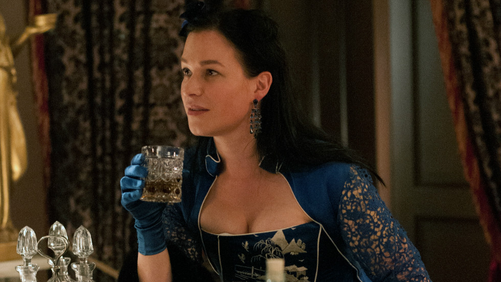 Franka Potente's character, Eva Heissen, is the madame of Eva's Paradise, a saloon and brothel in Five Points, where many of the show's characters find themselves sooner or later.