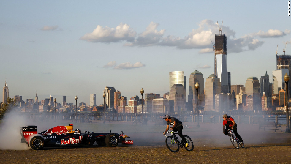 New Jersey was originally scheduled to stage Formula One's inaugural Grand Prix of America in June 2013, and Red Bull took its RB7 car over to the state of New York one year early to test drive the streets.
