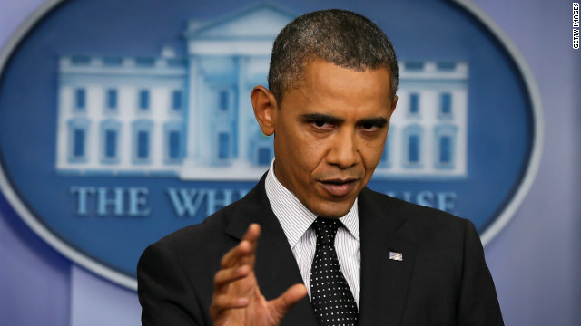 President Obama's remarks at the White House Monday appear to ratchet up his stance on Syria.