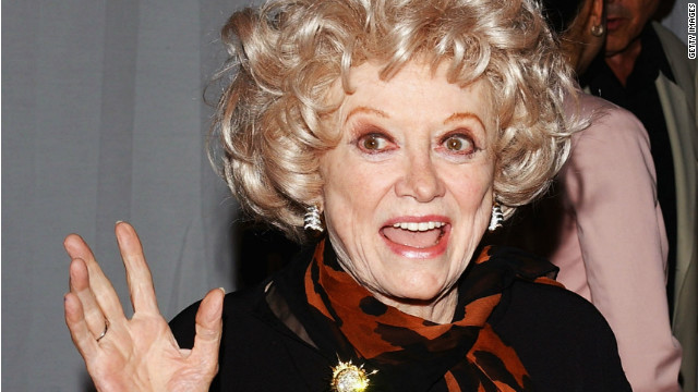 HOLLYWOOD, CA - SEPTEMBER 17: Comedian Phyllis Diller attends the celebrity gala opening for the national tour of 'Movin' Out' on September 17, 2004 at the Pantages Theatre, in Hollywood, California. (Photo by Stephen Shugerman/Getty Images)