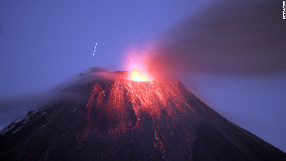 Eruptions from the Tungurahua volcano have prompted authorities to evacuate nearby residents.