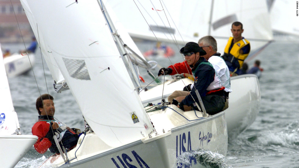 Paul, left, competes in the three-person sailing event at the Sydney Paralympics in 2000. The U.S. failed to win a medal, but gold is on the cards at London 2012 Callahan says.
