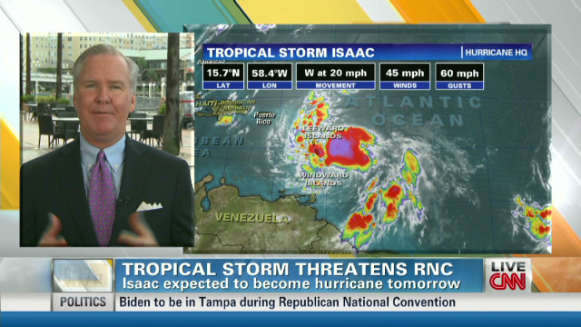 Tropical storm threatens RNC