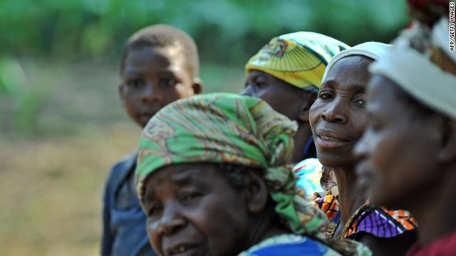 In July 2011, women wait for medical care in the Democratic Republic of Congo after hundreds were raped by armed gangs.