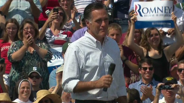 """No one has ever asked to see my birth certificate,"" Romney told a crowd in his home state of Michigan."