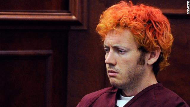 "James Holmes is accused of killing 12 people during a showing of ""The Dark Knight Rises"" last month."