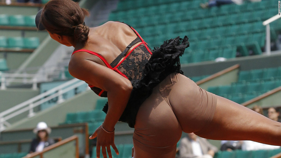 The former world No. 1 caused a stir by wearing flesh colored shorts under a corset dress at Roland Garros in 2010.