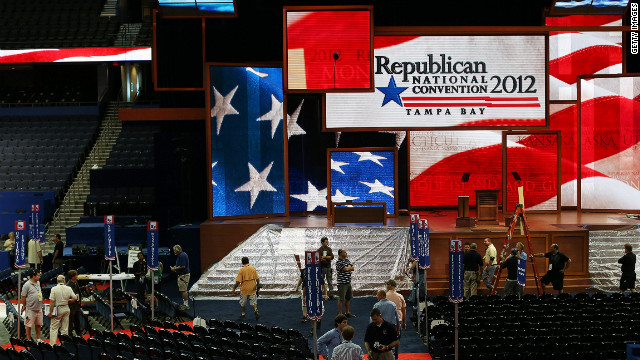 Gay people can still feel welcome in the Republican Party, says one delegate to the convention in Tampa.