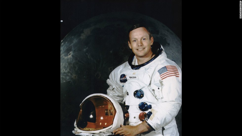 Armstrong poses for a portrait  in July 1969.