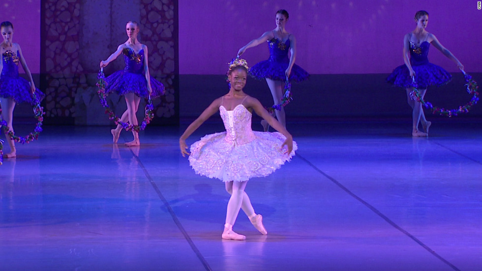 Sierra Leonean ballerina Michaela DePrince, 17, one of the ballet world's rising stars. The teenage dancer made her professional debut last month in South Africa.
