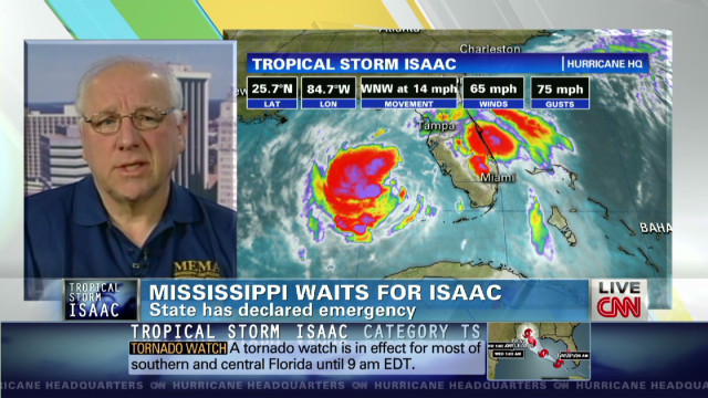 Mississippi waits for Isaac to hit