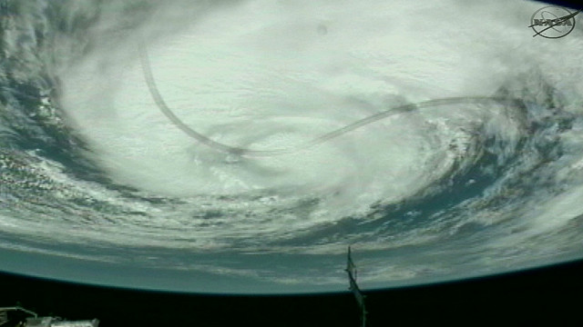 Video of hurricane Isaac from space as the International Space Station flies over