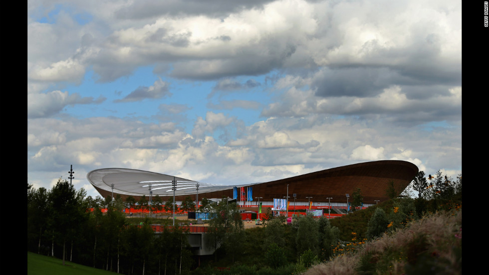 A general view shows the Olympic Velodrome.