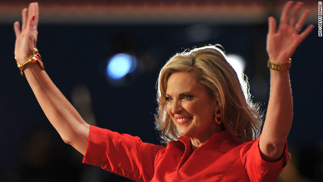 Ann Romney's speech drew cheers from the audience at the Republican National Convention.