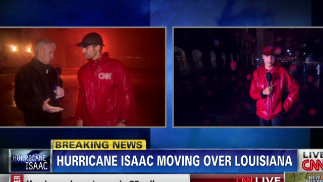 Hurricane Isaac causing heavy rainfall