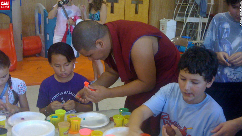 "Teri Blackmore's children kicked off their first day of school in a very unique way with Buddhist monks at St. Louis Homeschool Network in Missouri. ""It's experiences like this that keep us loving homeschooling!"" she said."