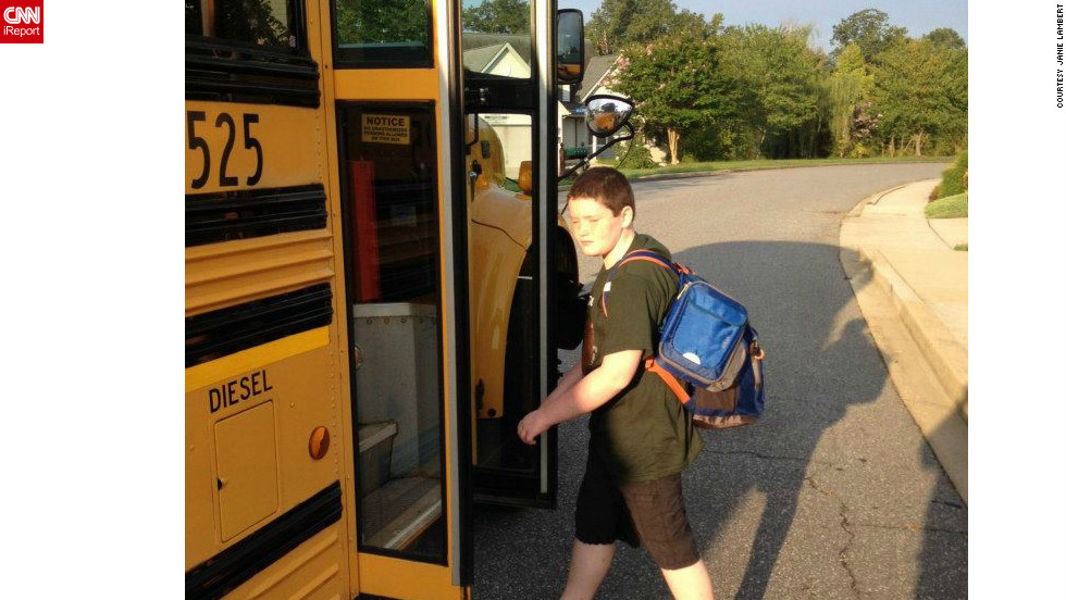"Isaac, a new 5th grader in Hughesville  Maryland was less than thrilled to be catching the bus at 6:15 a.m. on the first day of school. ""It is always hard to have the kids go back to school. The summer is never long enough,"" his grandmother told CNN."