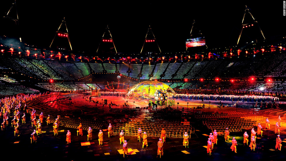 The opening ceremony featured plenty of bright lights and beautiful colors.