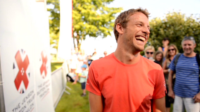 How does Jenson Button keep fit?