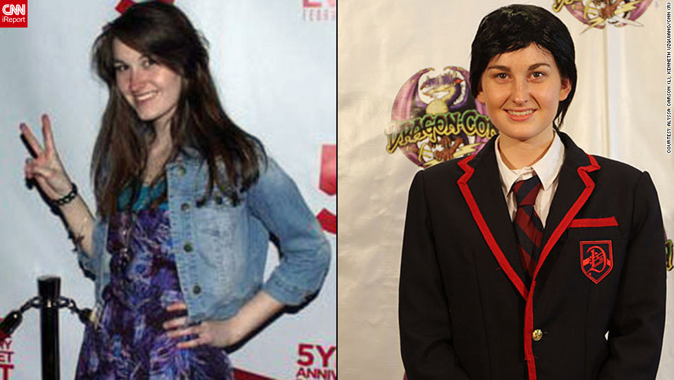 "<strong>Alyssa Carson as Blaine Anderson (""Glee"")</strong>This costume may not look particularly complex, but you wouldn't believe the effort Alyssa Carson put into <a href=""http://ireport.cnn.com/docs/DOC-831258"">making sure it was completely accurate</a>.""I had to go to Mood in New York City to find the right material for the suit jacket, a 14-hour drive,"" she said. And it doesn't stop there. ""I visited five stores before I found the trim and the haircloth interfacing. I also spent six months looking for the patch online. Then ... I spent over 100 hours cutting and sewing, both by machine and by hand.""There was an additional challenge for Carson on top of all that. ""Because I have Aspergers, working with abstract concepts is difficult,"" she explained. ""To make my Warblers blazer for a male character, I had to adjust the pattern to disguise my female shape. This entailed modifying seven or eight pieces of an advanced pattern.""Anything less just wouldn't have been acceptable to Carson. ""It had to be done precisely and it had to be a exact reproduction of the TV version,"" she said."