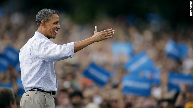 President Barack Obama addresses supporters in Boulder, Colrado, on Sunday. The Democratic National Convention is this week.
