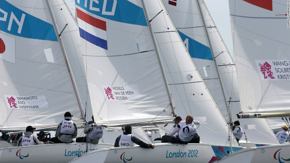 As the action moves into the last day, the medals in the three classes will be decided with the Dutch team looking strong in the Three-Person Keelboat (Sonar) class.