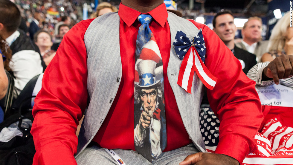 'Minister Wayne' of Arizona is seen on the convention floor on Thursday.