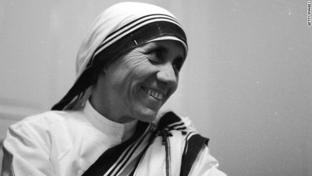 Portrait from 1960 of Mother Teresa, the Albanian nun who dedicated her life to the poor, the destitute and the sick of Calcutta.
