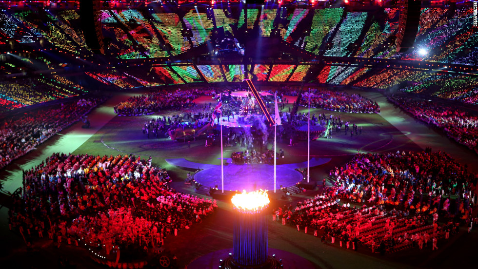 A general view during the closing ceremony.