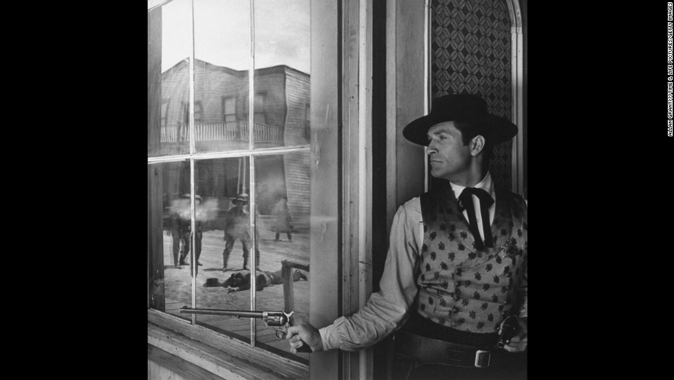 "Hugh O'Brian, ""The Life and Legend of Wyatt Earp."" <a href=""http://life.time.com/culture/shoot-first-behind-the-scenes-on-classic-tv-westerns/"">See the complete gallery on LIFE.com</a>."