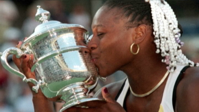 Williams celebrates her U.S. Open title