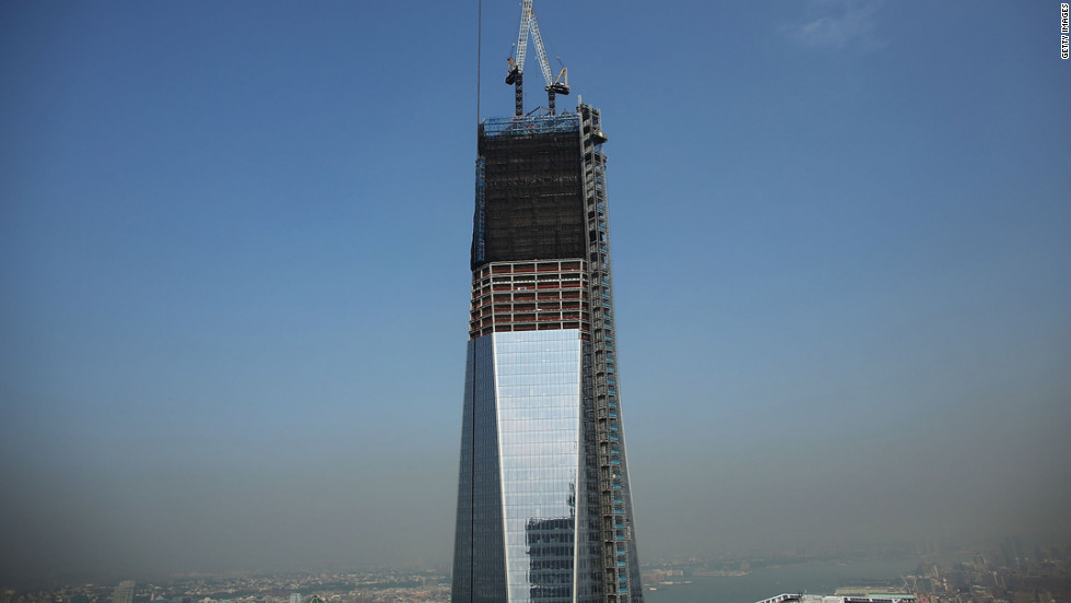One World Trade Center is viewed from the 72nd floor of Four World Trade Center on Friday, September 7, 2012.