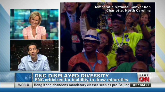 Diversity disparity at the conventions