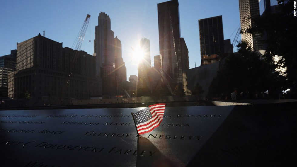 note gives new clarity on victim s death cnn a flag sits in a on the 9 11 memorial on 11