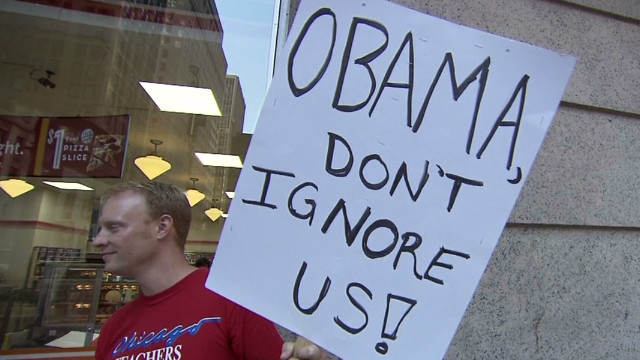 Chicago teachers want Obama's support