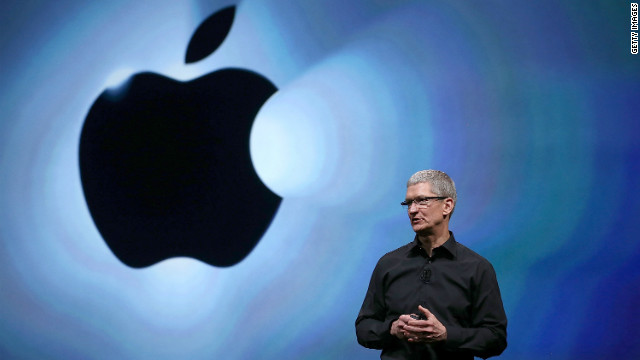 Apple CEO Tim Cook speaks during last month's launch of the iPhone 5 in San Francisco.