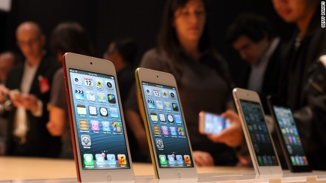 SAN FRANCISCO, CA - SEPTEMBER 12:  The new iPod Touch is displayed during an Apple special event at the Yerba Buena Center for the Arts on September 12, 2012 in San Francisco, California. Apple announced the iPhone 5, the latest version of the popular smart phone as well as new updated versions of the iPod Nano, Shuffle and Touch.  (Photo by Justin Sullivan/Getty Images)