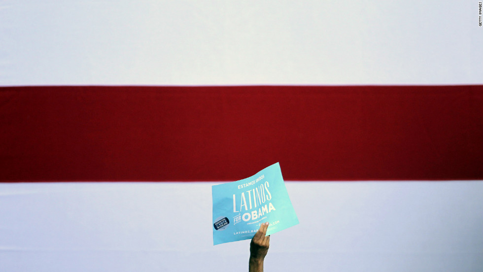 An Obama supporter attends a rally in Las Vegas on Wednesday, September 12. Obama focused on economic policies during his two days of campaigning in Nevada and Colorado.