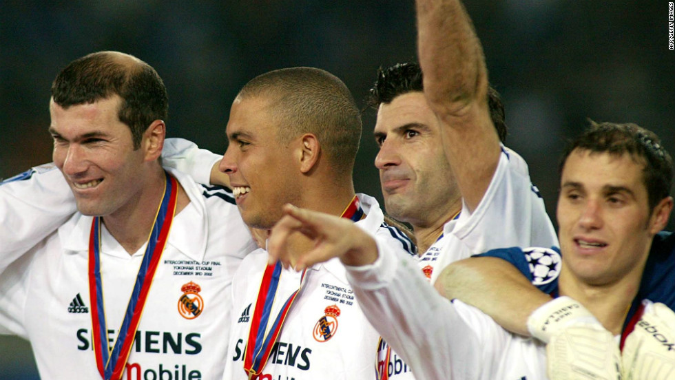 Ronaldo joined Real Madrid from Inter Milan in 2002. After waiting until October to make his debut for Madrid, he ended the season with 23 league goals as Los Blancos took the Spanish La Liga title.