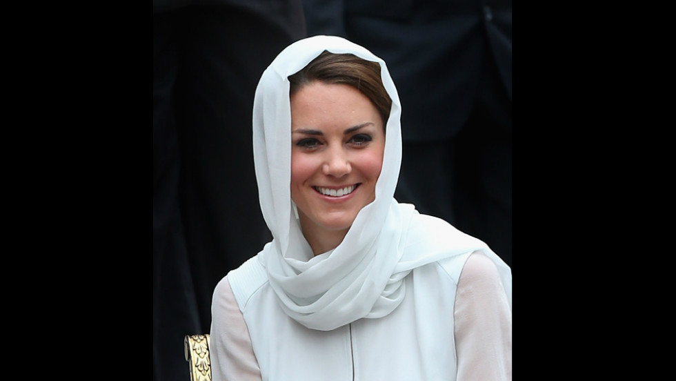 Catherine, Duchess of Cambridge, visits Assyakirin Mosque on Friday.