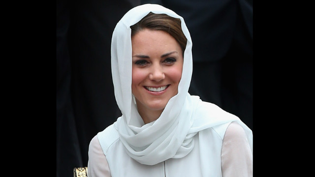 Catherine, Duchess of Cambridge visits Assyakirin Mosque on Friday.