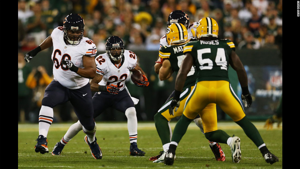 Running back Matt Forte of the Chicago Bears carries the ball Thursday against the Green Bay Packers.