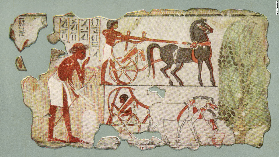 This Egyptian wall painting, from 1350 BC, is an example of how artists have long been drawing outlines around figures of people and animals.
