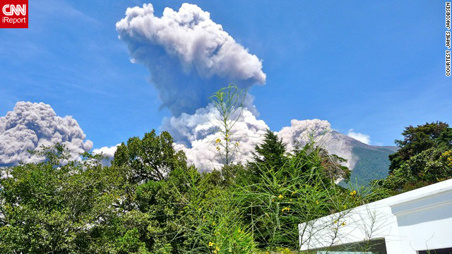 "The ""Fire Volcano"" erupted in Guatemala on Thursday."